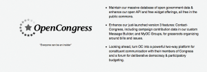 OpenCongress planned enhancements