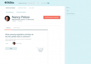 Nancy Pelosi  - AskThem.io - sample question - SOTU 2014