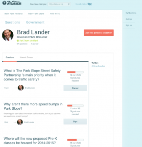 Questions to NYC's Brad Lander, verified responder, on AskThem