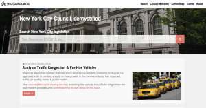 NYC Councilmatic homepage - track legislation, members, events and more, for local engagement.
