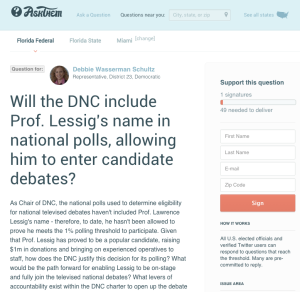 Support this question to DNC Chair on AskThem.
