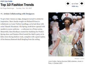 TIME Mag's top fashion trend of 2007, when #OpenGovData principles were articulated.