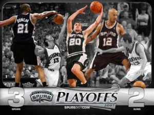 The San Antonio Spurs won the 2007 NBA Finals, their fourth, sweeping the Cavs in four. I'd like to add, Go Milwaukee Bucks.