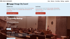 View of Chicago homepage, lots of recent shouts from Chi City Clerk.